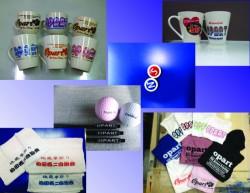 曲面,球体,布製品などに<br /> 印刷しています。<br /> パット印刷も可能です。