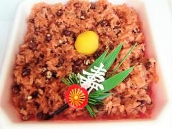 北海道産十勝小豆をふんだんに使った「つつみ」の「祝赤飯」一度食べればやみつきになる!!