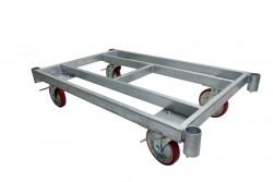 建築資材用の重量物運搬台車、単管で組み立てる台車など、建築資材、長尺物積載に適した台車があります。