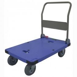樹脂の手押し台車(ハンドル折りたたみ式)から、エアータイヤタイプ、用途によって色々ありますよ。